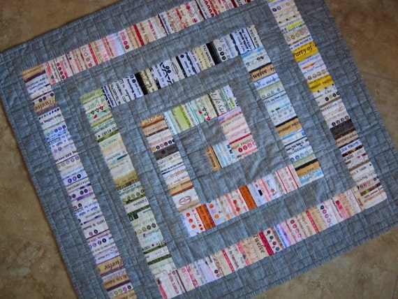 Modern Gray Selvage Quilt Pattern From Quilts By Elena