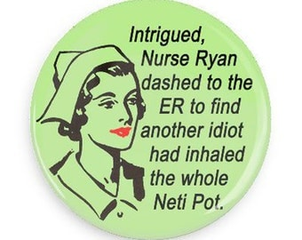 PERSONALIZE THIS Magnet!  Funny Nurse Retro Fridge Magnet, Novelty Gift for Nurse