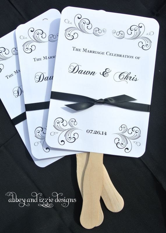 Personalized Wedding Fans By Abbeyandizziedesigns On Etsy