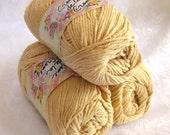 Creme de la creme TAN Cotton Yarn, worsted weight yarn