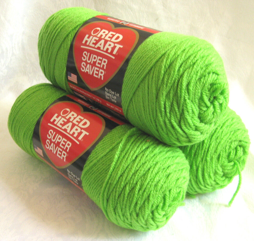 Toast Home Decor Red Heart Super Saver Yarn Spring Green Worsted By Crochetgal