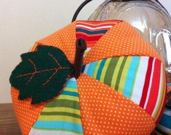 Medium Patchwork Fabric Pumpkin