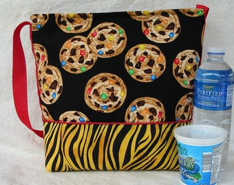Insulated Lunch Bag, Lunch Tote, Cookies for Lunch