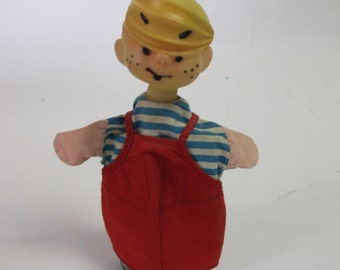 60s Vintage Dennis The Menace  Hand Puppet