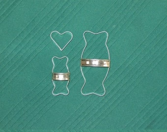 Dog Bone Cookie Cutters 3 Piece Kit With Custom Handles By West Tinworks