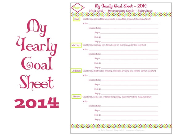 2015 yearly goal setting printable worksheets by designinglife. Black Bedroom Furniture Sets. Home Design Ideas
