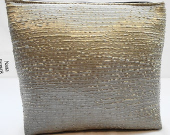 Zipper Pouch Cosmetic Bag  Make up Bag - Small - Champagne