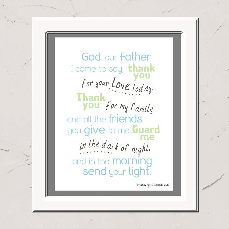 god our father i come to say children u0027s prayer 8x10