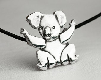Koala Bear Necklace Sterling Silver
