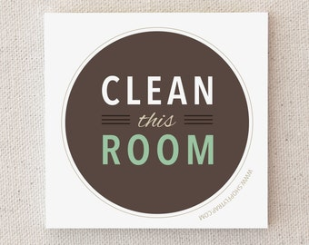 "Funny Sticky Notes. For Him, Her, Friend. Chores. Novelty Gift. To Do List. Cute. Cheap Gift. ""Clean This Room"" (NSN-C001)"