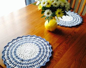 Crochet Shell Placemats set of 2