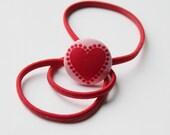 Red VALENTINE Heart--HEADBAND
