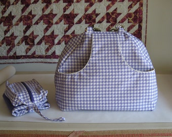 Diaper Bag and Changing Pad Sewing Patterns with convertible straps