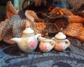 Tea Set Rings, Hair Clips and Necklaces