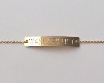 Wanderlust Gold Bar Bracelet