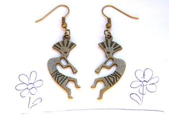 Kokopeli dangle earrings kokopelli charm Weddings Birthday Valentine gift for her love spring magical jewellery