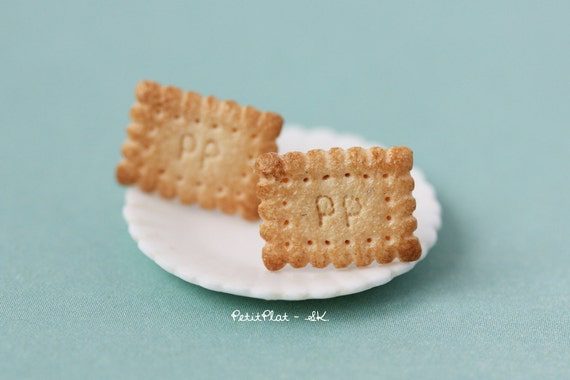 Butter Biscuit Studs / Post Earrings - Cookie Collection