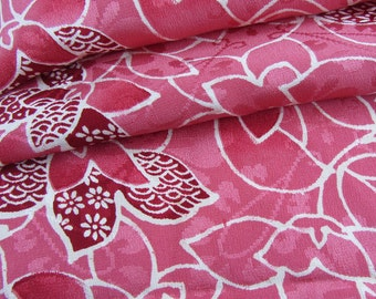 Japanese Kimono Fabric - Petals in Pink