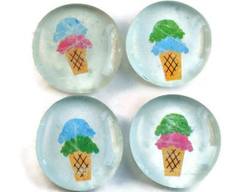 Glass Marble Magnets Funky  Refrigerator Magnets  in Sweet Treat (M69)