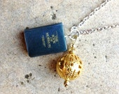 BookOFMormon Necklace with Book Charm and Liahona Charm