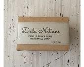 Vanilla Tonka Bean - OLIVE & SHEA BUTTER Soap - Handmade Cold Process
