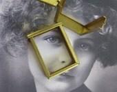 Large Raw  Brass Flip Top Channel Frames 644RAW x1