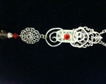 Steampunk Victorian Fantasy Silver Coil Necklace
