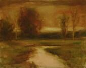 Original Oil Painting Landscape SANCTUARY 16x20