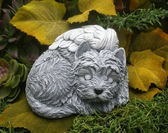 Terrier Angel Dog Statue, West Highland, Westie, Cairn, Skye, Yorkshire, Yorkie, Mixed Breed