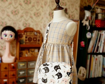 Japanese Handmade Shoulder Messenger Bag for girl and kids - Little Cat