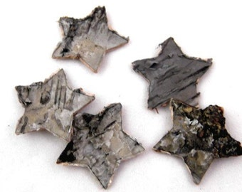 Birch Bark Stars -  Package of 5