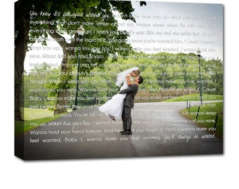 Cotton Anniversary Gifts for Him or Her  Just Engaged Married Photo Memories Wedding Art Canvas 24X36