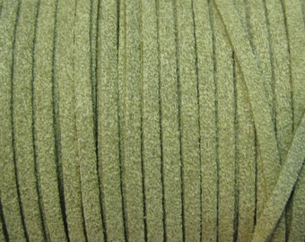 Olive Green Ultra Micro Fiber Suede Faux Suede 3mm 6 yards