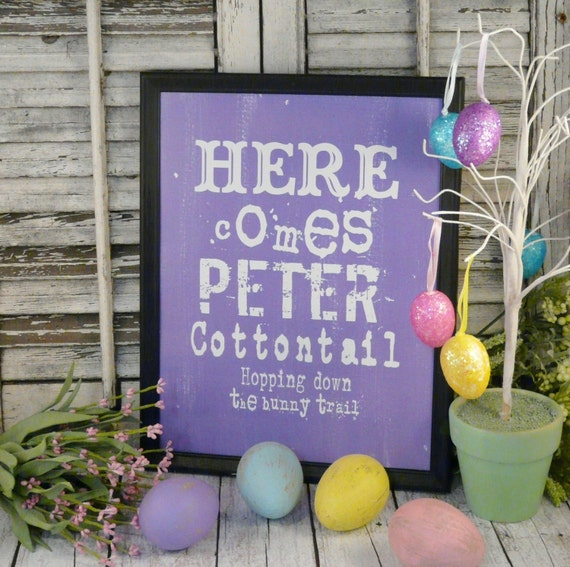 Here Somes Peter Cottontail Details