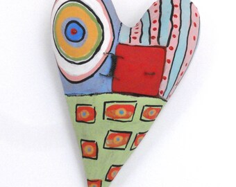 Open The Door to my Heart  Ceramic Wall Sculpture Valentine