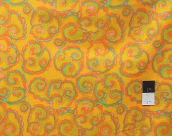 Brandon Mably PWBM030 Cosmos Gold Cotton Fabric By The Yard