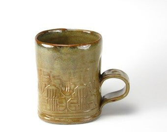 Toasty Brown Salvage Textured Mug