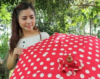 Red Polka-dot parasol size M