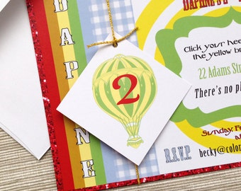 Wizard of Oz Invitations for Birthday Party or Wedding - DESIGN FEE