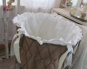 PDF Sewing e-Pattern/Tutorial for Hamper Liner for Round Folding Vintage Wire Laundry Hamper Basket - Instant Download
