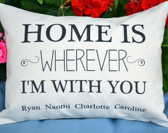 Personalized pillow, Cotton anniversary, Home pillow, housewarming, couples gift idea, Custom phrase, anniversary pillow, couples -home