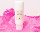 Cooling Peppermint Foot Cream , Foot Lotion, Deodorizing Foot Lotion, Mens Foot Lotion 4.5 oz