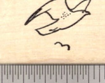Sea Gull Rubber Stamp, Beach Themed Stamps, Seagull Bird D21707 Wood Mounted