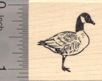 Canadian Goose Rubber Stamp, Small D25121 Wood Mounted