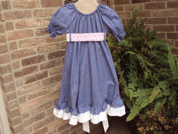 Victorian Kids Costumes & Shoes- Girls, Boys, Baby, Toddler Prairie Party  Dress civil war victorian OOAK size girls 4/5  birthday  dress up Plan a Prairie Party $45.00 AT vintagedancer.com