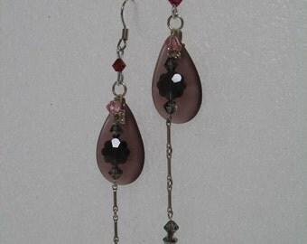 Purple Passion Swarovski  Crystal Earrings
