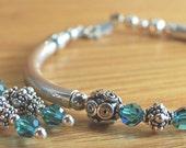 Sterling silver swarovski crystal bracelet