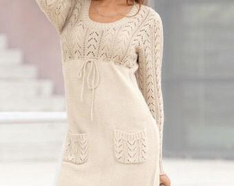 A beautiful elegant handmade knitted dress