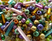 Antique Vintage Venetian Party Mix Glass Seed & Bugle Beads   50g bag