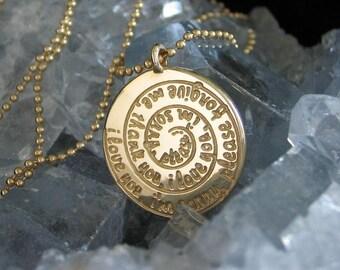 Ho'oponopono Nekclace - 14K Gold - Spiral